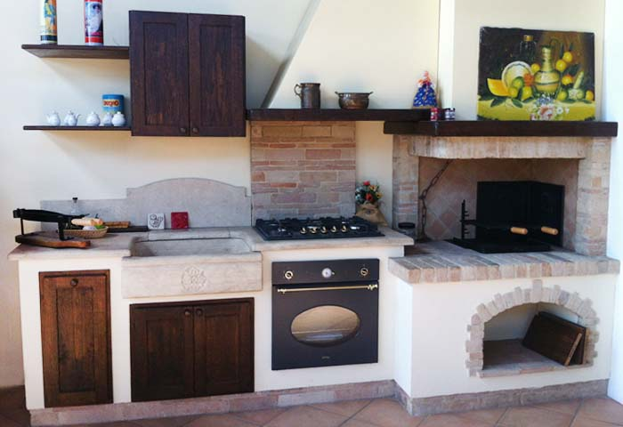 Best Cucine In Muratura Con Forno A Legna Gallery - Ideas & Design ...